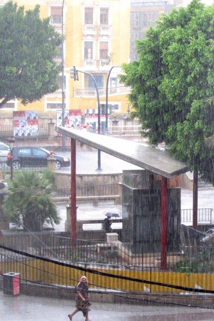 Altiplano, Noroeste y Vega del Segura, en aviso por lluvias y tormentas localmente fuertes y granizo