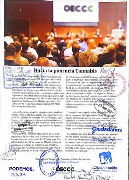 Documento sellado por los partidos