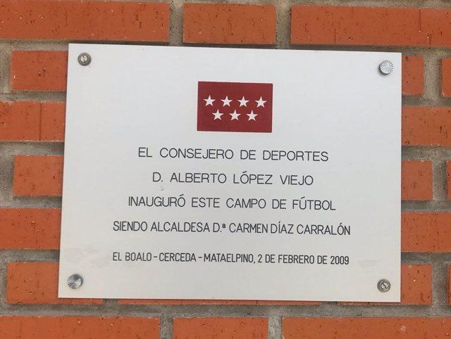 Placa retirada a López Viejo tras sentencia en Gürtel