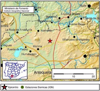 La provincia de Málaga registra seis terremotos de entre 1,5 y 2,6 grados durante este martes y miércoles