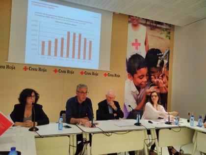 """Creu Roja de Catalunya detecta """"intermitencias"""" en la pobreza, aunque con el 70% de crónicos"""
