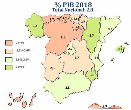 La Comunitat Valenciana crecerá un 2,5% este año 2018, según Ceprede