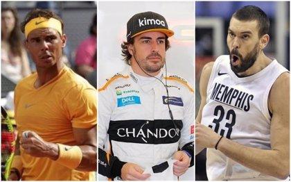 Nadal, Alonso y Marc Gasol, entre los 100 deportistas mejor pagados