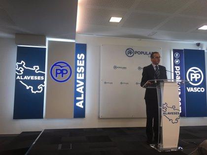 """Alonso dice que PP no va a """"tocar"""" las inversiones para Euskadi pero hará cambios que """"puede que no le gusten"""" a PNV"""
