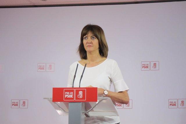 Idoia Mendia En Rueda De Prensa