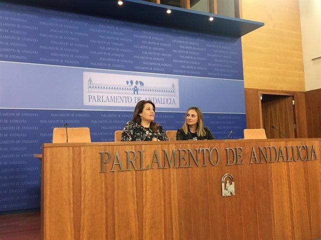 Carmen Crespo y Marifrán Carazo en rueda de prensa