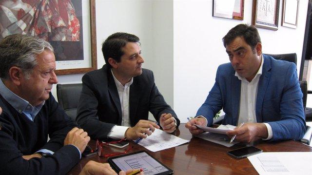 Rafael Amor, José María Bellido y Salvador Fuentes
