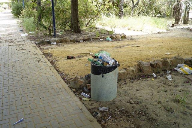 Foto del Jardín Americano de Sevilla, cuyo estado critica Cs