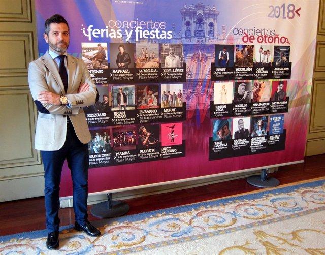Julio López presenta los conciertos de fiestas de Salamanca