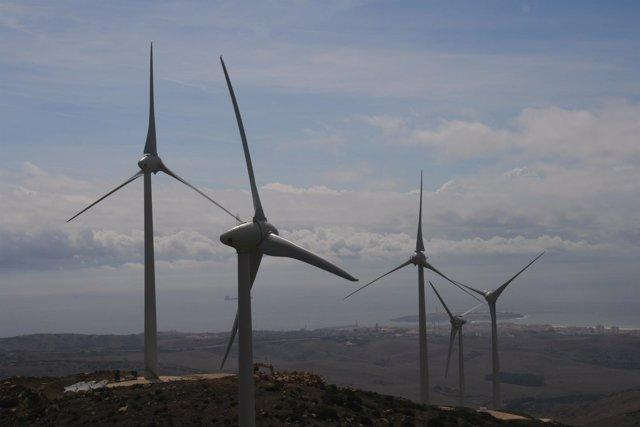 Parque eólico de Andalucía.