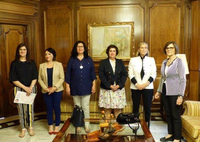 Peñalver recibe ejecutiva de la Federación Salud Mental