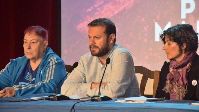 Raúl Camargo en la presentación del Manifiesto por Madrid
