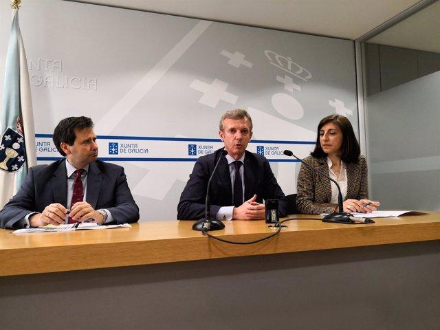 Rueda de prensa de Rueda y Ángeles Vázquez