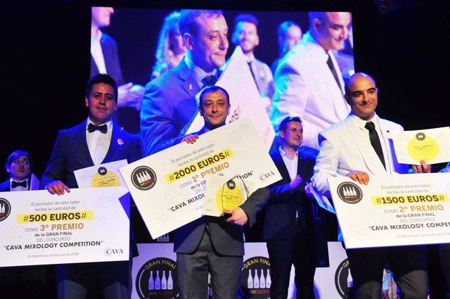 Ganadores Final del concurso 'Cava Mixology Competition'