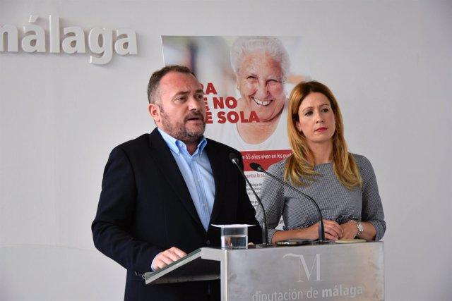 Luis Guerrero y Antonia García, diputados del PSOE en Diputación de Málaga