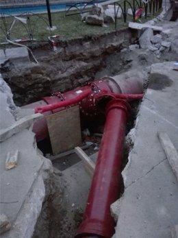 Emasa tubería estación de bombeo agua