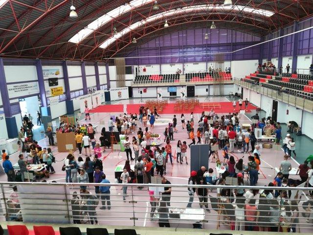 Panorámica del recinto donde se celebra la Feria del Emprendimiento