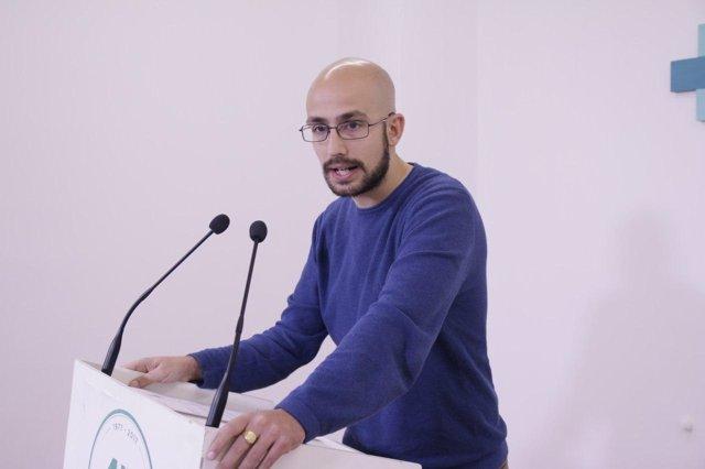 Pablo Pérez Ganfornina, de Podemos, en rueda de prensa
