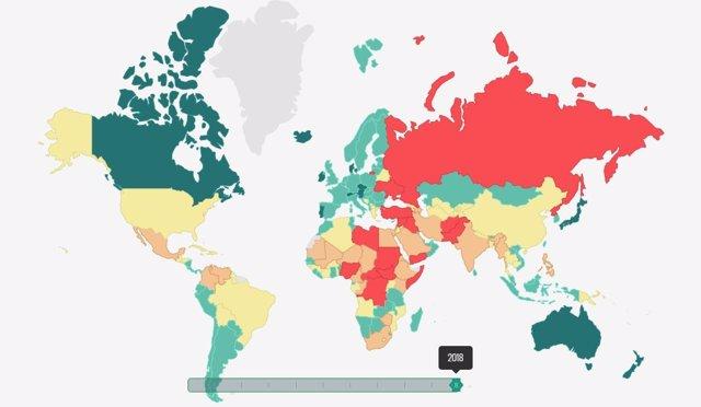 INDICE DE PAZ GLOBAL 2018