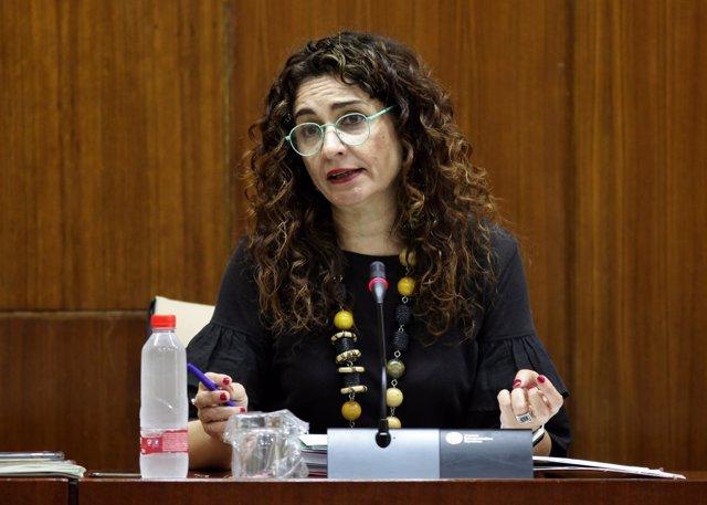 María Jesús Montero, en comisión parlamentaria.