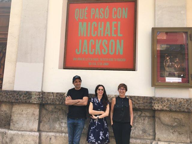 Presentación de 'Qué pasó con Michael Jackson' en el Teatre Talia