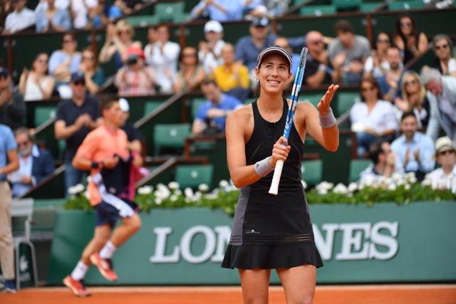 Garbiñe Muguruza en Roland Garros