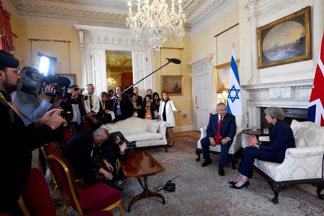 Theresa May y Benjamin Netanyahu