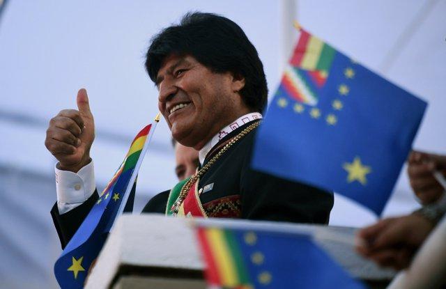 El presidente de Bolivia, Evo Morales
