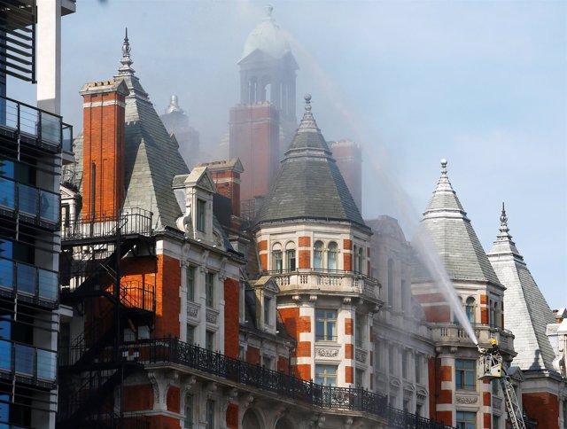 Incendio en el Hotel Mandarín Oriental de Londres