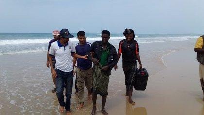 Mueren 46 personas tras hundirse una embarcación con cien migrantes etíopes frente a las costas de Yemen