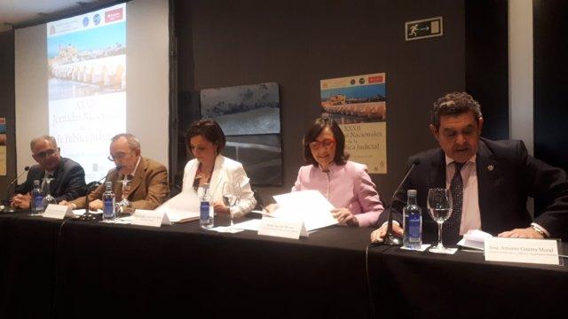 Rosa Aguilar, en las Jornadas de Fe Pública Judicial