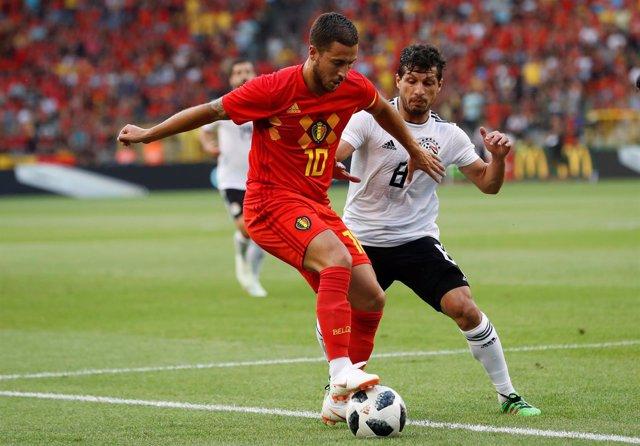 Bélgica afina (3-0) ante una Egipto sin Salah