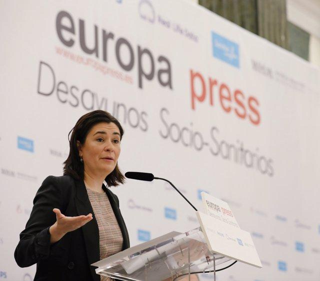 Carmen Montón participa en el Desayuno Socio-Sanitario de Europa Press