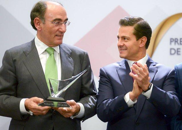 El presidente de Iberdrola y el presidente de México