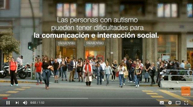 Campaña de sensibilización del autismo.