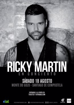 Cartel de Ricky Martin en Santiago