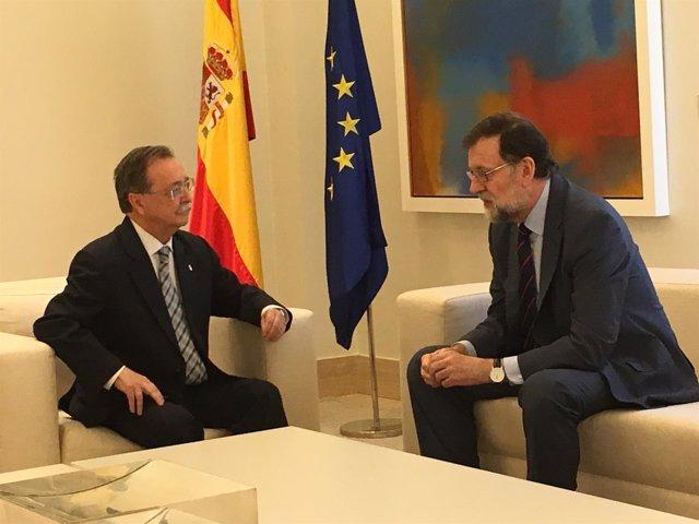 El presidente de Ceuta, Juan Vivas, y el presidente del Gobierno, Mariano Rajoy
