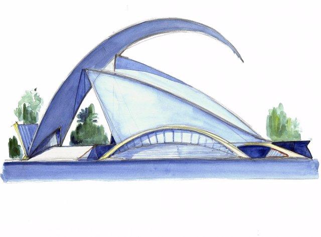 Uno de los bocetos de Las Artes y las Ciencias que componen la muestra