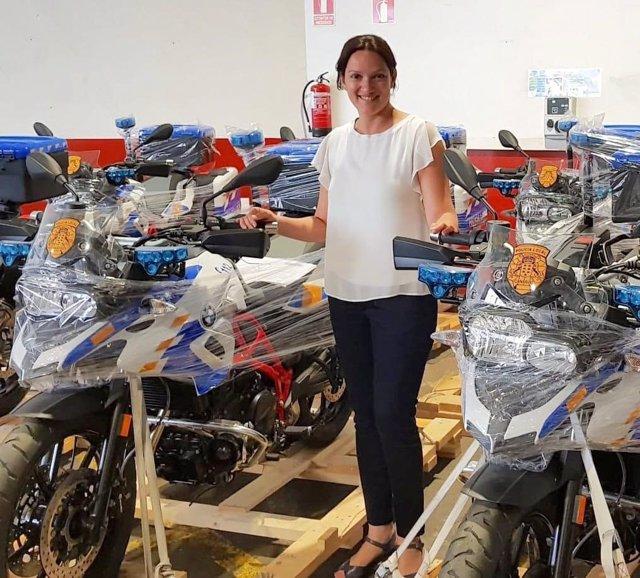 González, con las nuevas motos