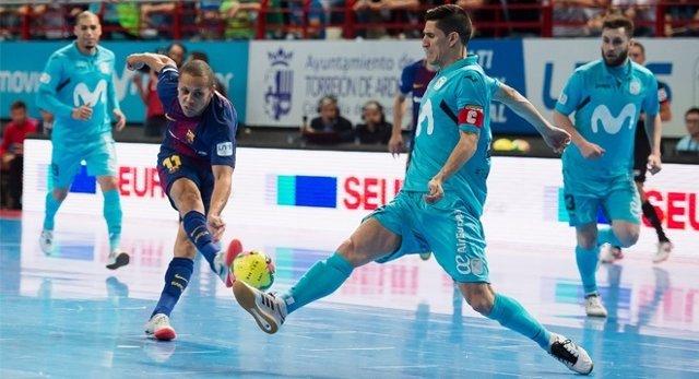 Movistar Inter toma ventaja ante el Barça en la prórroga