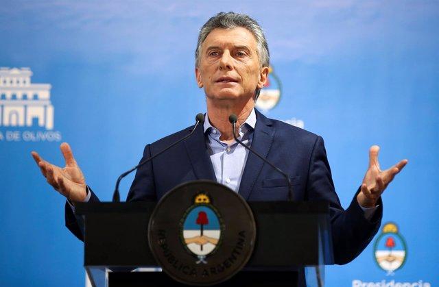 El presidente de Argentina, Mauricio Macri