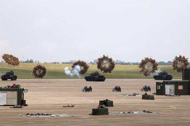 Maniobras militares Han Kuang simulado una invasión del Ejército chino en Taiwán