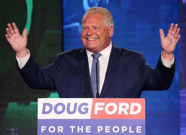 El líder de Partido Progresista Convservador de Canadá, Doug Ford.