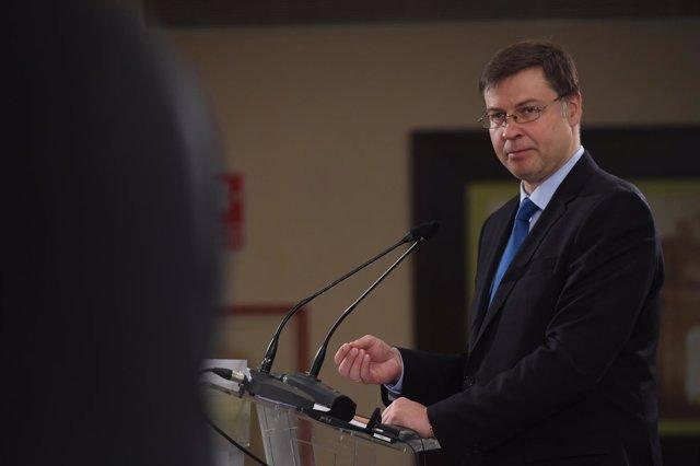 Valdis Dombrovskis, comisario de Estabilidad Financiera