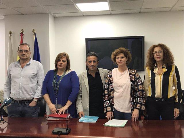 Representantes del comité de empresa del Gobierno de Cantabria