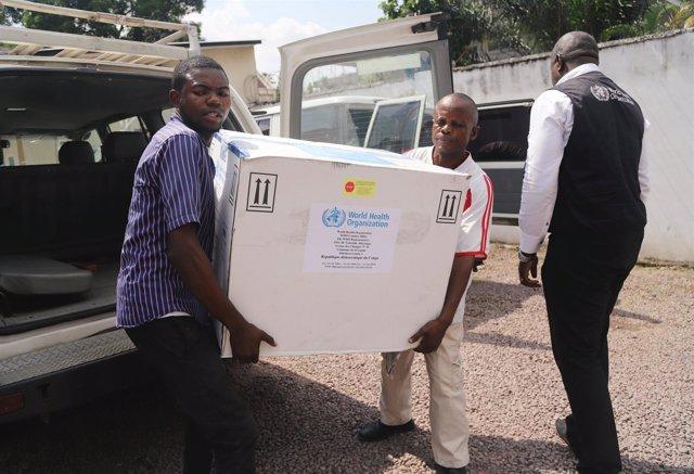 Llegada de vacunas contra el ébola a Kinshasa