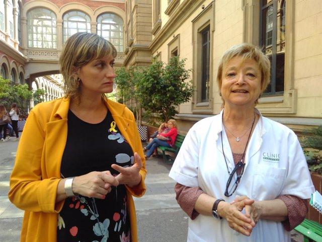 La consellera Alba Vergés y la psiquiatra Lluïsa García-Esteve