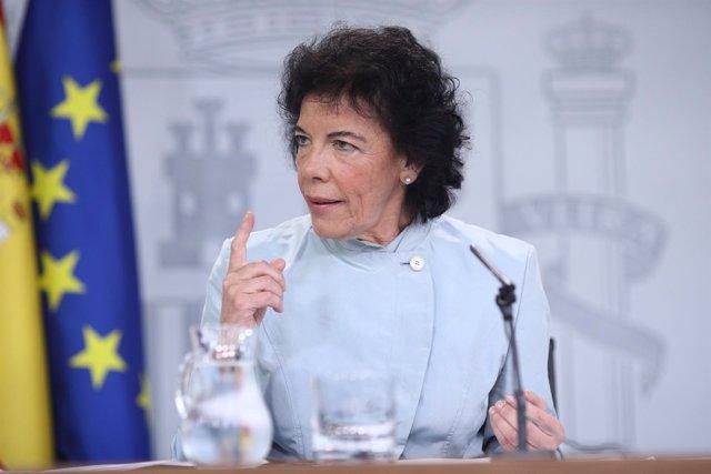 Rueda de prensa de Isabel Celaá, portavoz del Gobierno
