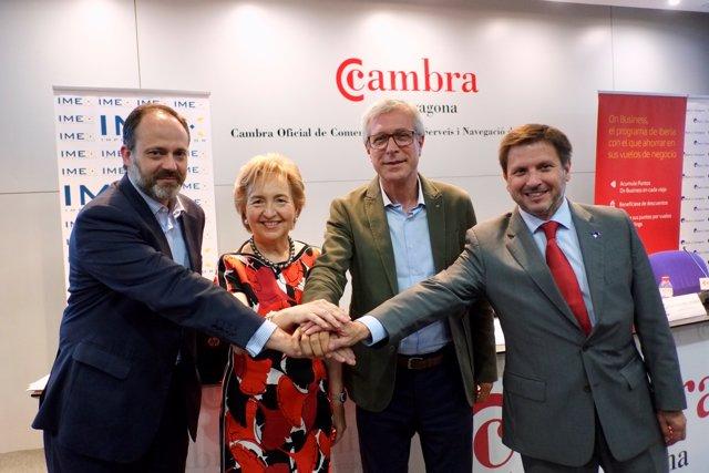 D'izq a drc José Terrers, Laura Roigé, Josep Fèlix Ballesteros i Josep Andreu.