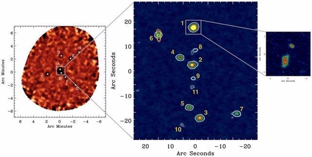 Localización del cúmulo de galaxias en formación más distante